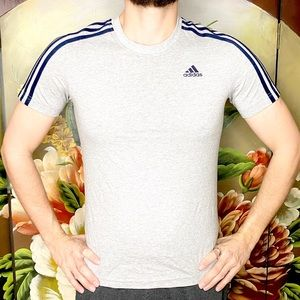 NEW Adidas Gray Short Sleeved Sportwear Tee Shirt